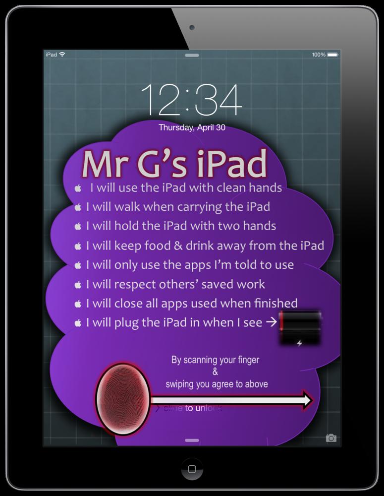 My iPad's Lockscreen