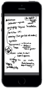 SMART Kapp notes synced to my iPhone